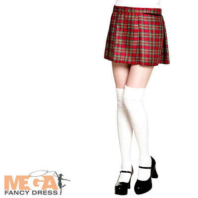 Red Tartan Skirt Ladies Fancy Dress Scottish Highlander Adults Costume Accessory