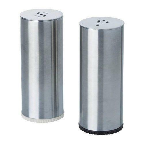 stainless steel salt and pepper shakers ebay. Black Bedroom Furniture Sets. Home Design Ideas
