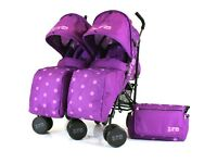 Zeta Twin Pushchair (Purple)