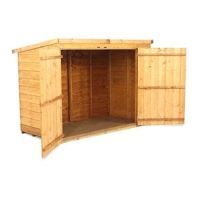 Wooden Bike Store Shed Storage Garden Pent Overlap 3x6 Feet INCLUDES FLOOR New
