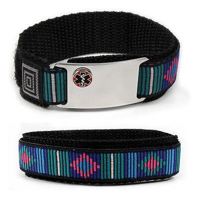 Free Medical Id Bracelet (Sport Medical Alert ID Bracelet raised Emblem. Free wallet Card and )