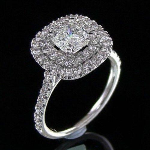 2 Ct Cushion Cut Diamond Ring