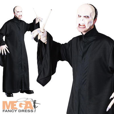 Lord Voldemort Adults Fancy Dress Harry Potter Book Week Mens Costume Outfit (Lord Voldemort Kostüme)