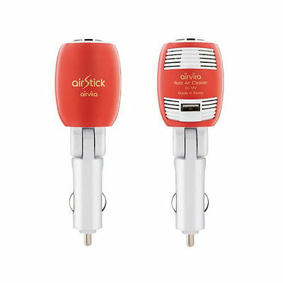Airvita Air Stick Car CigarJack Air Purifier USB 180°Adjustable Angle/ Red Color