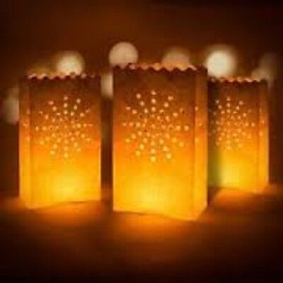 Hand Crafted Candle Lantern Bags wedding parties new year halloween birthday](Halloween Candle Paper Bags)