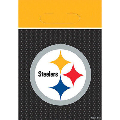 NFL PITTSBURGH STEELERS FAVOR BAGS (8) ~ Birthday Party Supplies Treat Loot](Nfl Party Favors)
