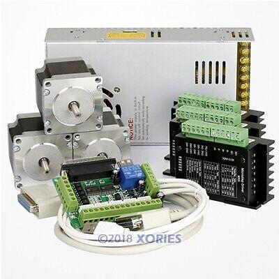 Cnc Router Kit 3 Axis M335 Motor Driver 0.5a-3.5a 1.26 Nm Nema23 Stepper Motor