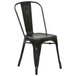 BRISTOW METAL DINING CHAIR - SET OF 4 - ANTIQUE BLACK