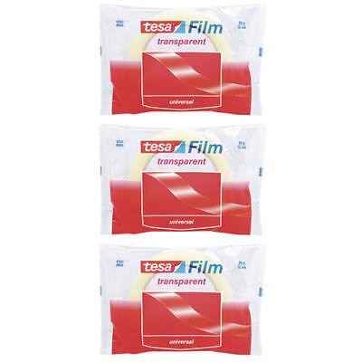 Tesa Film 57342 Transparent Self-adhesive Tape 15mm X 66m Pack Of 3 Rolls