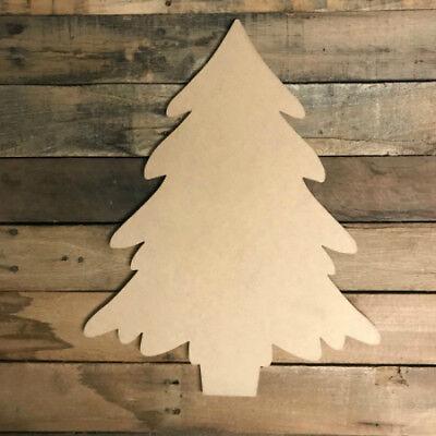 Wooden Christmas Tree Shape, Christmas Shape, Wall Art Shape, Paintable Craft ()
