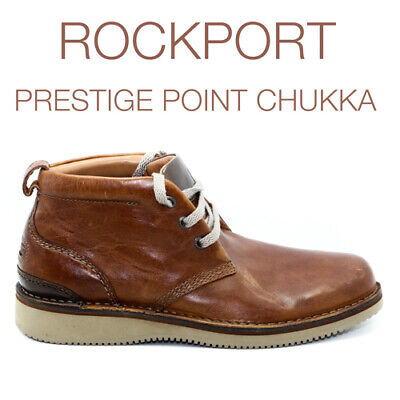 Rockport Mens Prestige Point Chukka Brown Leather V81846 Casual Comfortable Boot