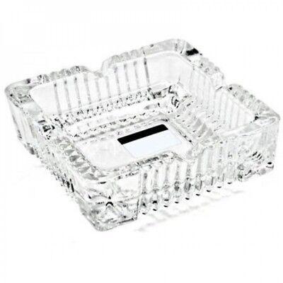 Glas Aschenbecher Aschen-Becher Ascher im Kristall Design massive Ausführung