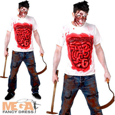Guts Body Part Zombie Mens Fancy Dress Halloween Adults Horror Costume Shirt - Zombie Guts Kostüm