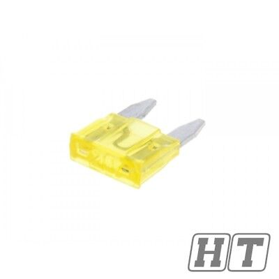FUSE FLAT MINI FUSE MINI 111MM 20A YELLOW FOR MOTORCYCLE SCOOTER