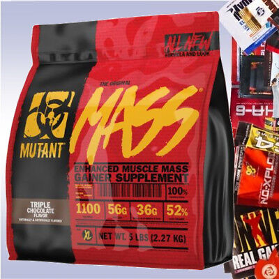 MUTANT MASS  +3 FREE SAMPLES muscle gainer protein carb bcaa