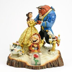 Jim Shore Disney Tradition Beauty and the Beast Carved By Heart Figurine 4031487
