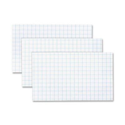 Oxford Printable Index Card - 3 X 5 - 90 Lb - Recycled - 100 Pack - White