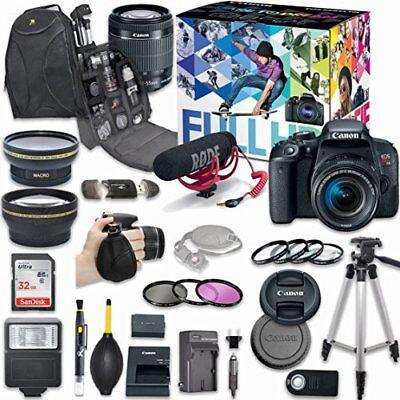 Canon EOS Rebel T7i DSLR Camera Deluxe Video Creator Kit+ Accessory Bundle