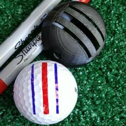 Golf Ball Marker - Triple Alignment Stencil