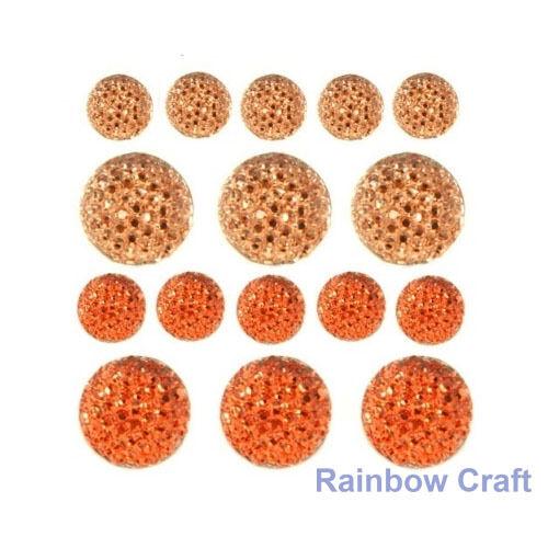 kaisercraft Bling Sparklets / Self Adhesive Rhinestones crystal ebony hearts - Coral