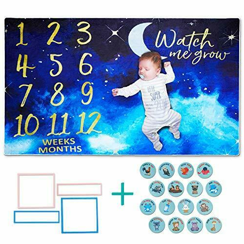All Prime Starry Night Monthly Baby Milestone Blanket for Baby Girl or Boy - ...