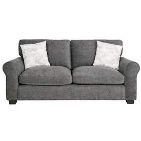 CLEARENCE!! was £349.99 3 seater sofa charcoal