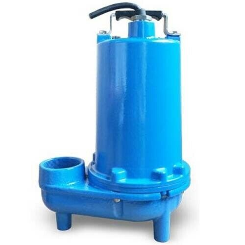 """Submersible SEWAGE TRASH Pump - 2"""" Out - 104 GPM - 115 V - 1/2 HP - Self Priming"""
