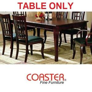 """NEW* COASTER DINING TABLE 78"""" x 42"""" CHERRY FINISH FURNITURE DECOR TABLES CONTEMPORARY ROOM KITCHEN DINNER 101422115"""