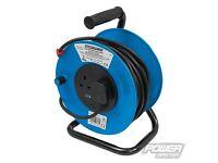 PowerMaster 303754 Cable Reel 240V Freestanding 13A 25m 2 Socket New Unused