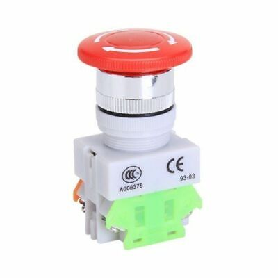 Usa Emergency Stop Switch Push Button Mushroom 4 Screw Terminals 600v10a