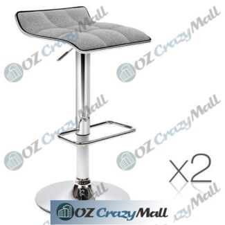 2x Quality Fabric Upholstery Bar Stools