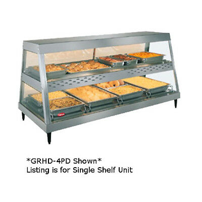 Hatco Grhd-4p See-thru Countertop Heated Display Case With 4 Pan Single Shelf