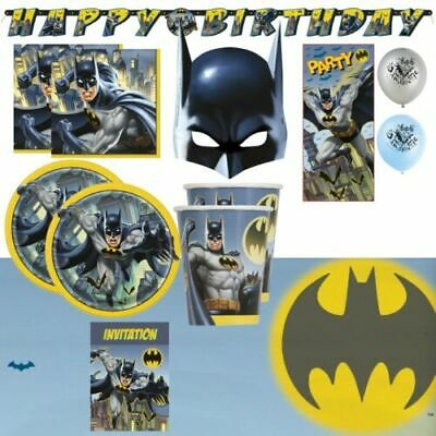 Batman Superheld Party Zubehör Geschirr Dekoration Teller Becher Ballons