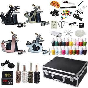 Tattoo Kit Set 4 Gun Power Machine Complete Professional- C2