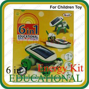 6 In 1 Educational Game Hybrid Solar Energy Robot Kit For