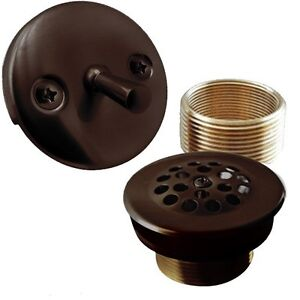 Oil Rubbed Bronze Trip Lever Bathtub Drain Bath Area Shower Trim Kit EBay
