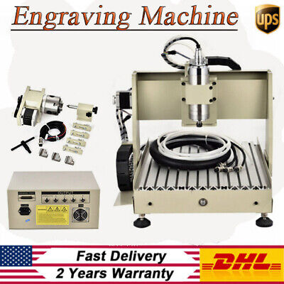 4 Axis Cnc 3040 Router Engraver 3d Mini Carving Drilling Milling Machine 800w