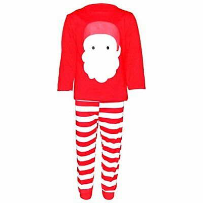 Kids Christmas Santa Pajama Set 2t 3t 4t 5 6 7 8 Toddler Kids Clothes - Children Christmas Clothing
