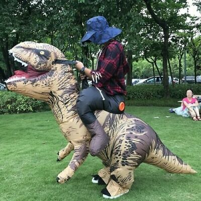 T-REX Inflatable Rider Dinosaur Dino Costume For Adult Cosplay Outfits Suit