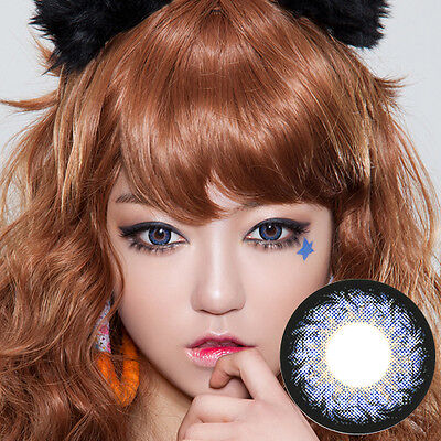 Blau Farbige Kontaktlinsen Color Contact Circle Lenses DIA14.5mm HCFBl