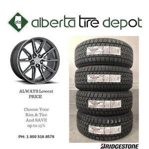 LOWEST Price Bridgestone BLIZZAK Tire Rim Winter AS 245/45R17 235/65R17 235/50R19 185/55R15  225/60R18 215/65R17