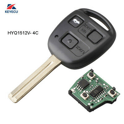 Replacement Remote Key Fob for Lexus ES300 GS300 IS300 1998-2005 HYQ1512V - 4C