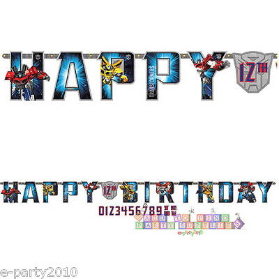 Transformers Birthday Banner (TRANSFORMERS JUMBO LETTER BANNER KIT ~ Birthday Party Supplies Room)