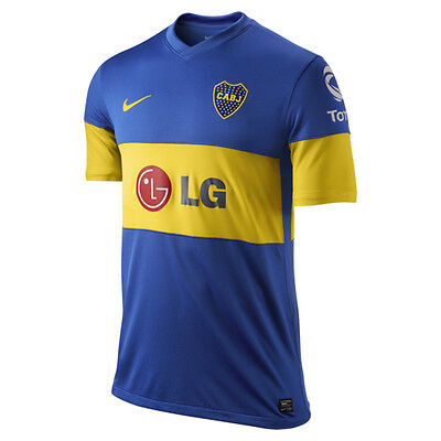 08de6c849f9 nwt~Nike BOCA JUNIORS JRS ATLETICO Argentina Football Soccer Shirt Jersey~ Mens L