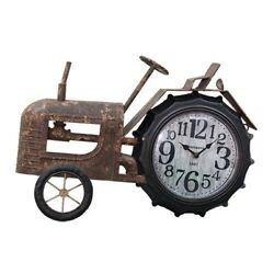 Farm House Country Style Rustic Tractor Clock Decorative Wall Display Decor