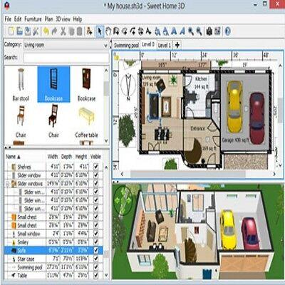 Sweet Home 3D Interior House Design CAD Software
