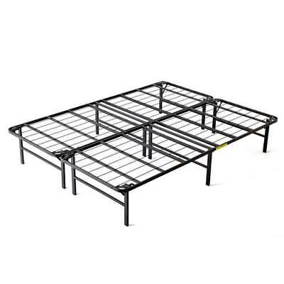 Intellibase Lightweight Easy Set Up Bi-fold Platform Metal Bed Frame, Queen