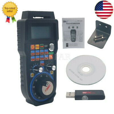Cnc Mach3 Wireless Electronic Handwheel 6-axis Manual Controller Usb Mpg Us-xr