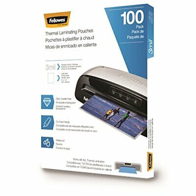 Fellowes Thermal Laminating Pouchessheets Letter Size 9 X 11.5-inches 3 Mil ...
