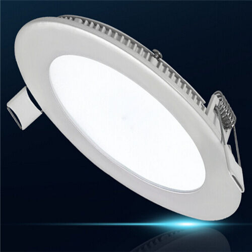 12w Led Round Recessed Ceiling Flat Panel Down Light Ultra Slim Cool White 5055875552616 Ebay